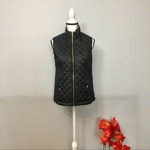 Basic Editions lightweight polka dot vest